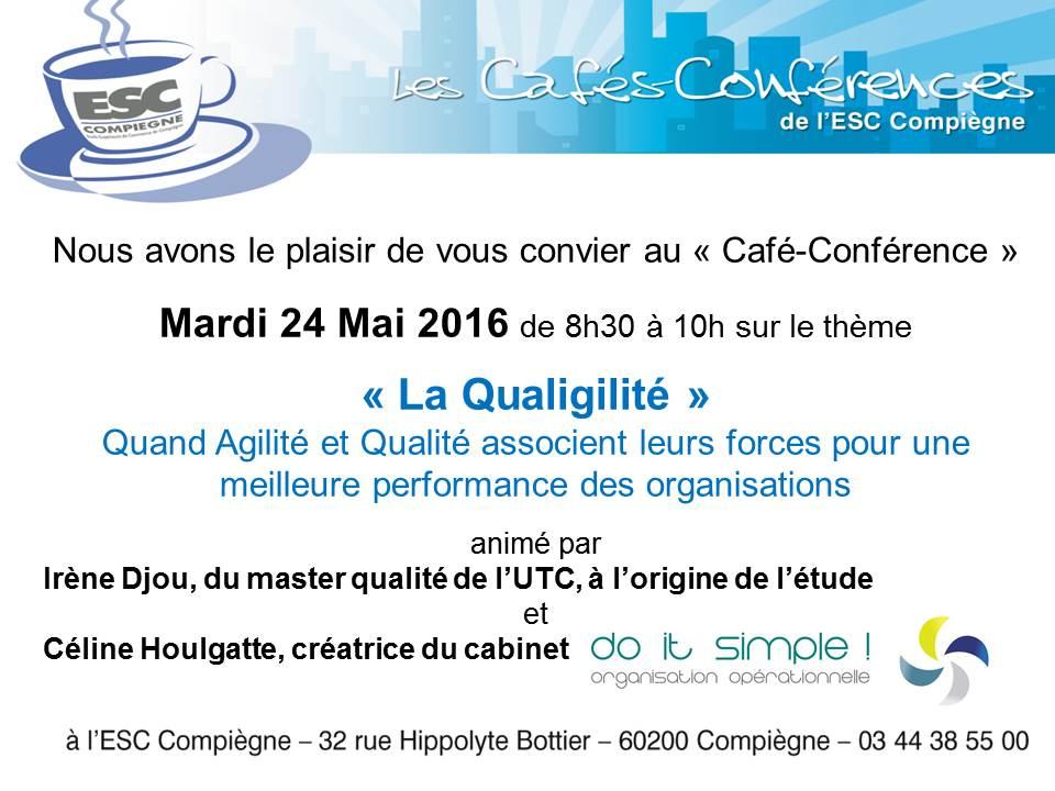 Invitation ESC Compiegne cafe conf Qualigilité Mai 16