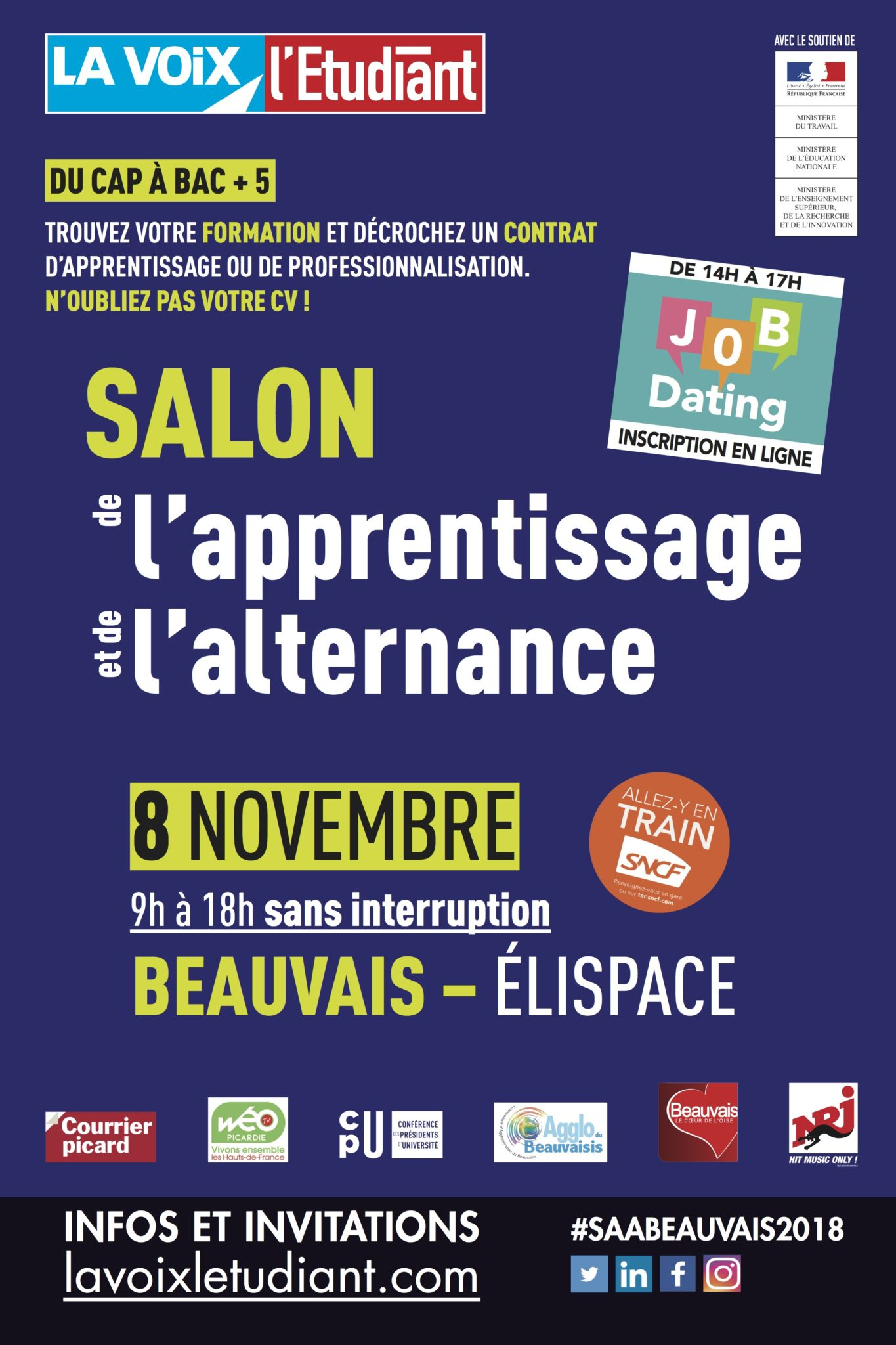 salon apprentissage alternance ESC Compiegne beauvais 2018 elispace