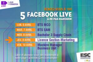Facebook Live spécial Licence gestion-Marketing