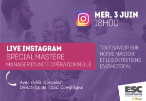 Instagram Live Spécial Mastère Manager d'unité opérationnelle.